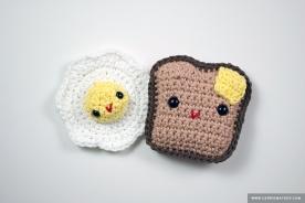Amigurumi Toast & Egg